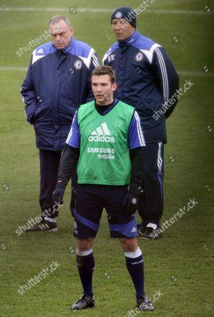 Editorial photo of Chelsea FC football training, Cobham, Surrey, Britain  - 28 Feb 2008