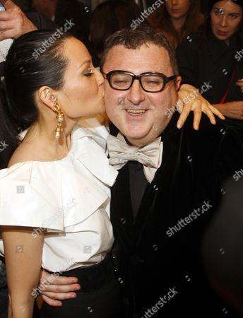 Lucy Liu and Albert Elbaz