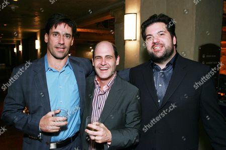 Jon Hamm, Producer Matt Weiner and AMC's Vlad Wolwynetz