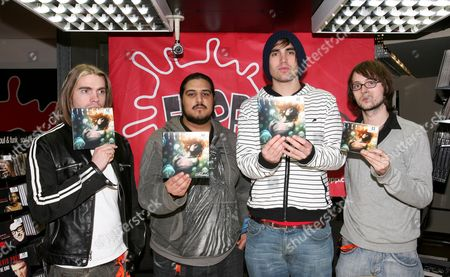 Stock Picture of Fightstar - Dan Haigh, Omar Abidi, Charlie Simpson and Alex Westaway