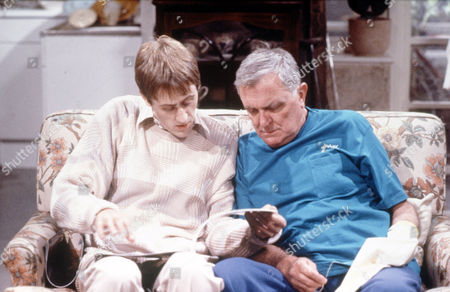 Nicholas Lyndhurst (left) with Tenniel Evans in 'The Two Of Us'