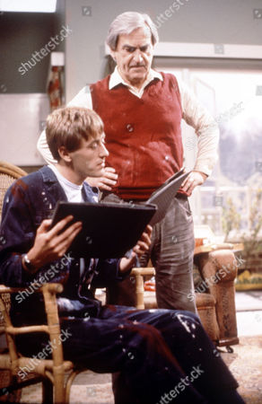 Nicholas Lyndhurst (seated) with Patrick Troughton in 'The Two Of  Us'