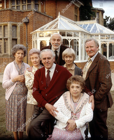 Stock Image of (back) John Cater (middle row) Gillian Raine, Gudrun Ure, George Cole, Renee Asherson and Leslie Phillips in 'Life After Life'