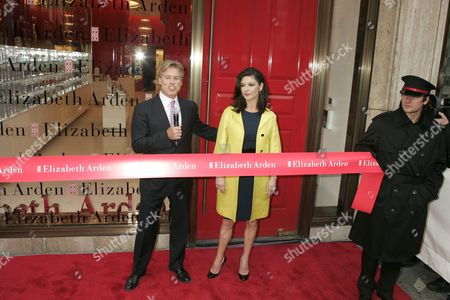 Catherine Zeta-Jones and Scott Beattie, Elizabeth Arden CEO