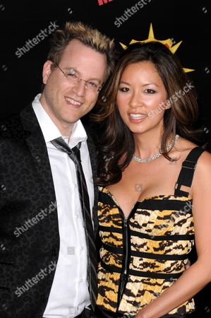 Ben Mezrich and wife