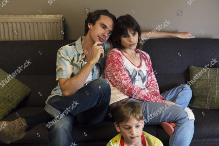 Edward Akrout (as Paolo), Joseph Teague (as Harry) and Charlotte Riley (as Juliette)