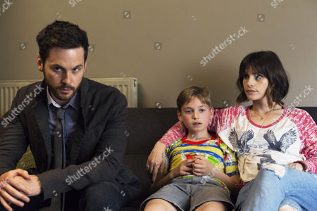 Stock Image of Tom Riley (as DI Will Wagstaffe), Joseph Teague (as Harry) and Charlotte Riley (as Juliette)