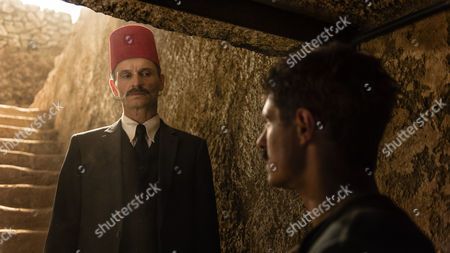 Stock Photo of Nicolas Beaucaire (as Pierre Lacau) and Max Irons (as Carter)