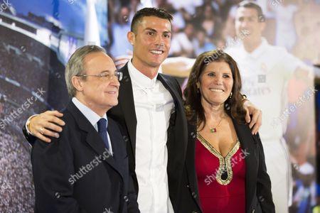 Florentino Perez, Cristiano Ronaldo and his mother Dolores Aveiro