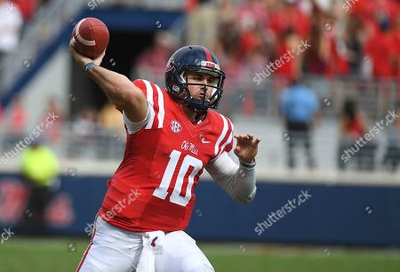 Chad Kelly Mississippi quarterback Chad Kelly (10) releases a pass during the second quarter of an NCAA college football game against Georgia Southern in Oxford, Miss., . Mississippi won 37-27