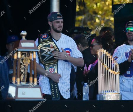 368a193dd Chris Bryant Chicago Cubs  Chris Bryant is introduced to the crowd during a  rally in