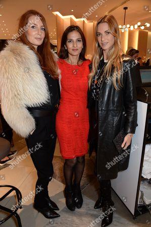 Angela Radcliffe, Yasmin Mills and Caroline Massenet
