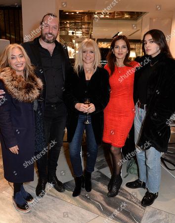 Stock Image of Brix Smith, Dan Smith, Jo Wood, Yasmin Mills, Maddie Mills