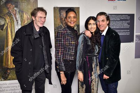 Stock Picture of Bill Collins, Hazel Collins, Sheela Raman and Sacha Newley