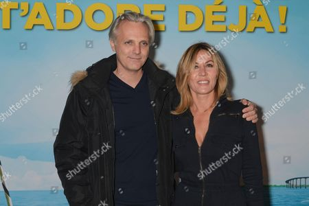 Mathilde Seigner and her husband Mathieu Petit