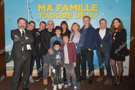 Team of the film: Alan Corno, the producer, Dany Boon, Jerome Commandeur, Yael Boon, the producer, Thierry Lhermitte, Marie-Anne Chazel and Arthur Dupont