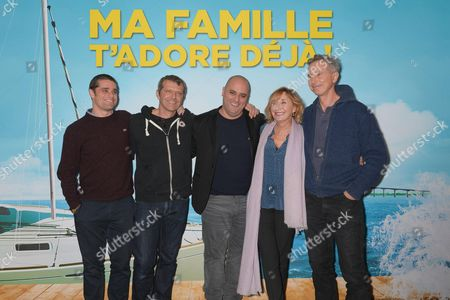 Team of the film: Arthur Dupont, Alan Corno, Jerome Commandeur, Marie-Anne Chazel and Thierry Lhermitte
