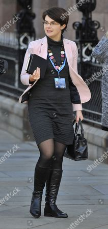Stock Photo of Chloe Smith Mp. Conservative Party Annual Conference Manchester Central Greater Manchester.-.