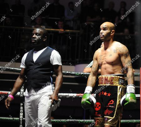Leon Mckenzie Beats John Mccallum In An Eliminator For The British Super-middleweight Title. With His Dad Clinton. Boxing York Hall London.