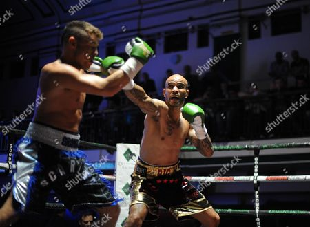 Leon Mckenzie Beats John Mccallum In An Eliminator For The British Super-middleweight Title York Hall. Boxing York Hall London.