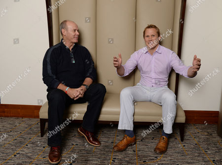 Stock Image of Sir Clive Woodward Meets Ex-england Rugby Player Josh Lewsey.