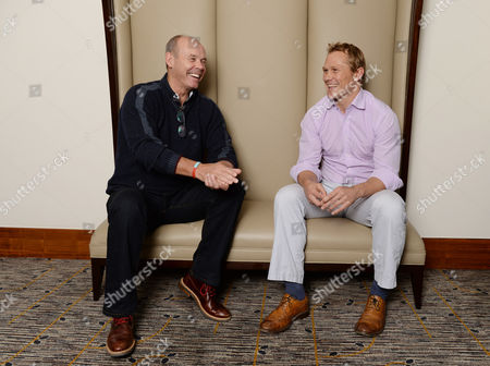 Stock Photo of Sir Clive Woodward Meets Ex-england Rugby Player Josh Lewsey.