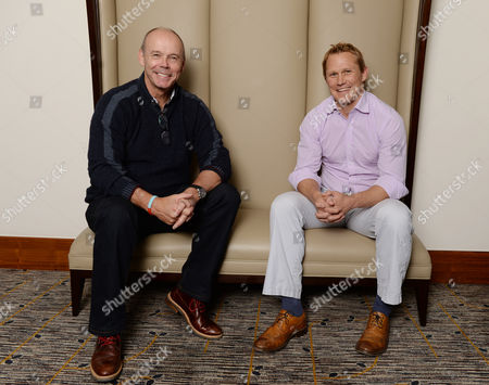 Editorial photo of Sir Clive Woodward Meets Ex-england Rugby Player Josh Lewsey.