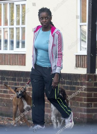 Editorial picture of Jenni Douglas-todd Former Chief Executive Of The Office Of The Hampshire Police And Crime Commissioner Leaving Her Home Near Winchester. Picture David Parker 27.10.15 Reporter Lucy Osborne.