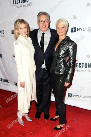 Stock Picture of Jane Fonda, Moises Kaufman, Lauren Wainwright