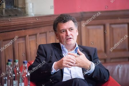 Editorial photo of Stephen Moffat at the Oxford Union, UK - 07 Nov 2016