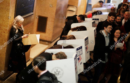 Editorial photo of 2016 Election New York Voting, New York, USA - 08 Nov 2016