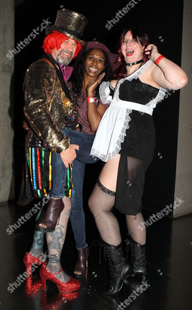Sinitta pictured with Rocky Horror fans Peter Faiers and partner Debbie Kairney