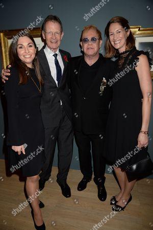 Sir Nicholas Serota, Sir Elton John and guests