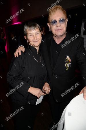 Frances Morris and Sir Elton John