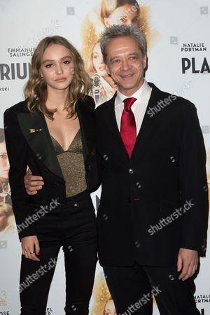 Stock Picture of Lily-Rose Depp and Emmanuel Salinger