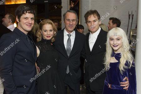 Michael Esper (Valentine), Amy Lennox (Elly), Ivo van Hove (Director), Michael C Hall (Thomas Jerome Newton) and Sophia Anne Caruso (Girl)