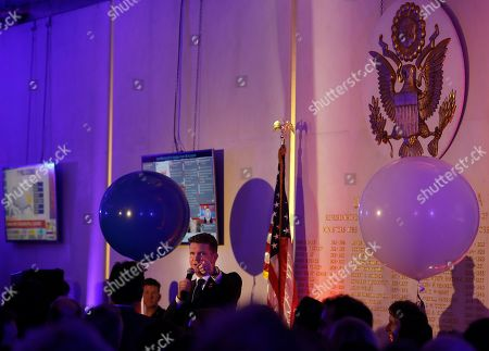 U.S. Ambassador to Britain Matthew Barzun welcomes the guests to an Election Night Party at The United States Embassy in London, . The United States headed for the polls to vote for their new president on Tuesday
