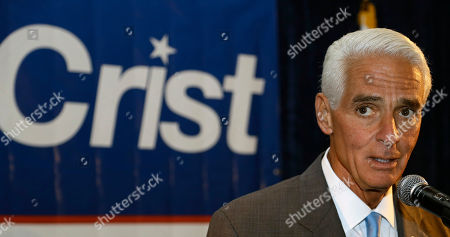Charlie Crist Former Florida Gov. Charlie Crist thanks supporters after being elected to the U.S. House of Representatives, in St. Pete Beach, Fla. Crist defeated Republican opponent David Jolly
