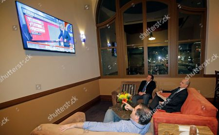 Evan McMullin Independent presidential candidate Evan McMullin, right, watches election results during a election night watch party, in Salt Lake City