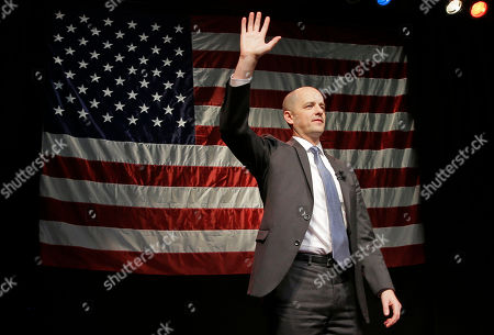 Stock Image of Evan McMullin Independent presidential candidate Evan McMullin speaks to his supporters during a election night watch party after Republican Donald Trump won Utah, in Salt Lake City. Trump won Utah's six electoral votes