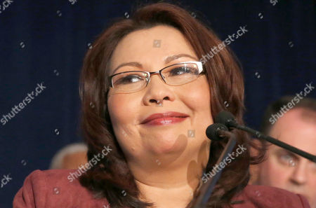 Tammy Duckworth Sen.-elect Tammy Duckworth, D-Ill., smiles as she celebrates her win over incumbent Sen. Mark Kirk, during her election night party, in Chicago