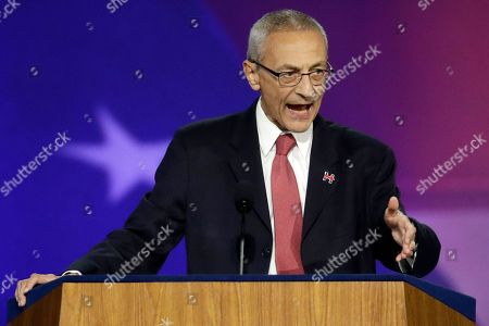 John Podesta, campaign chairman, announces that Democratic presidential nominee Hillary Clinton will not be making an appearance at Jacob Javits Center in New York, as the votes are still being counted
