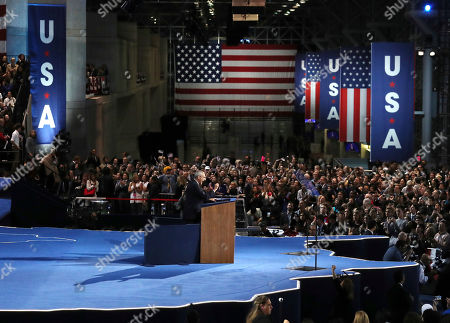 John Podesta, campaign chairman for Democratic presidential nominee Hillary Clinton, speaks at her election night rally in New York,. Podesta told the crowd that Clinton would not appear since votes were still being counted