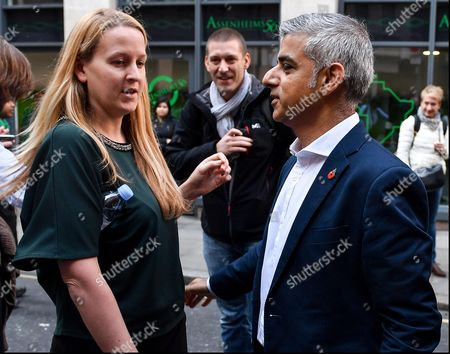 Editorial picture of Mayor Sadiq Khan lauches new rate for Living Wage, London, UK - 31 Oct 2016