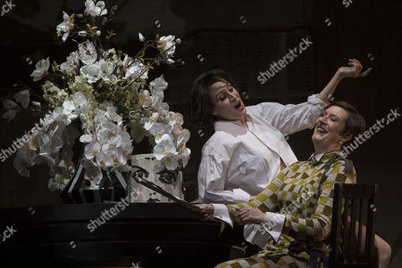 Brenda Rae as Lulu, Sarah Connolly as Countess Geschwitz