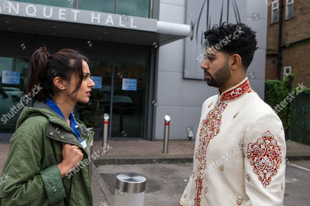 Begging Bhavna Limbachia (as Rana Habeeb) to give Qasim Akhtar (as Zeedan Nazir) another chance, Leanne cajoles her into her car and drives her to the wedding venue. Zeedan greets Rana outside the venue and reveals that everything is in place for them to get married there and then if she?ll change her mind. Will a shell-shocked Rana agree? (Episode 9046 - Wed 30th Nov 2016)