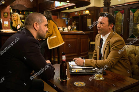 When Kirk tells Shayne Ward (as Aidan Connor) that Liam is missing his mummy, Aidan resolves to do what he can to help speed up Maria's release. He meets up with Sam Barriscale (as Ben), a hotshot solicitor and asks him to take on Maria's case but in doing so is Aidan dangerously putting his business and family on the line for Maria? (Episode 9045 - Mon 28th Nov)