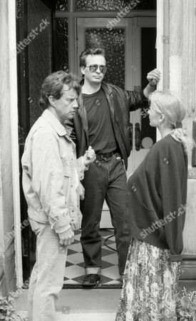 Julian Griffen (as Rick) with Frazer Hines (Joe Sugden) (Episode 1582 - 13th August 1991)