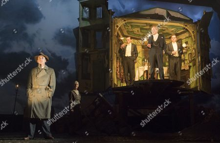 Liam Brennan as Inspector Gould, Clive Francis as Mr Birling, Hamish Riddle as Eric, Matthew Douglas as Gerald