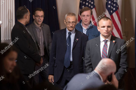 John Podesta, Campaign Chair for Democratic presidential candidate Hillary Clinton, walks to his seat before Clinton spoke in New York, where she conceded her defeat to Republican Donald Trump after the hard-fought presidential election